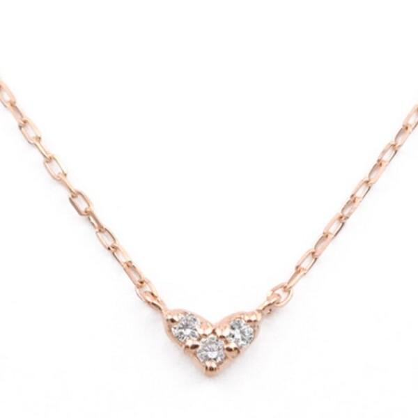 K10 ピンクゴールド ダイヤモンド ハート ネックレス  ¥25,300 (税込)