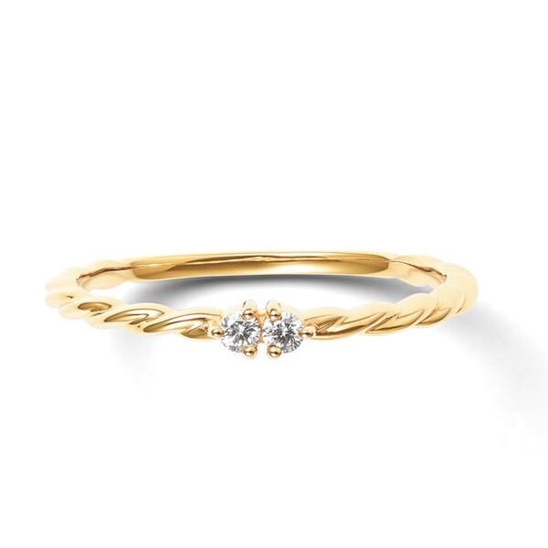 K10 イエローゴールド ダイヤモンド リング  ¥25,300 (税込)