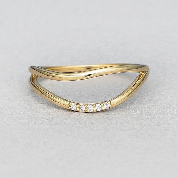 K10 イエローゴールド ダイヤモンド リング
