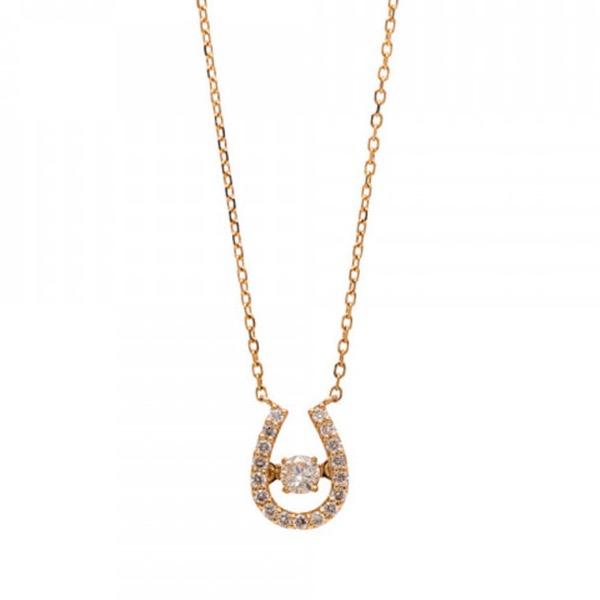 【馬蹄】K10 イエローゴールド ダイヤモンド ネックレス  ¥55,000 (税込)