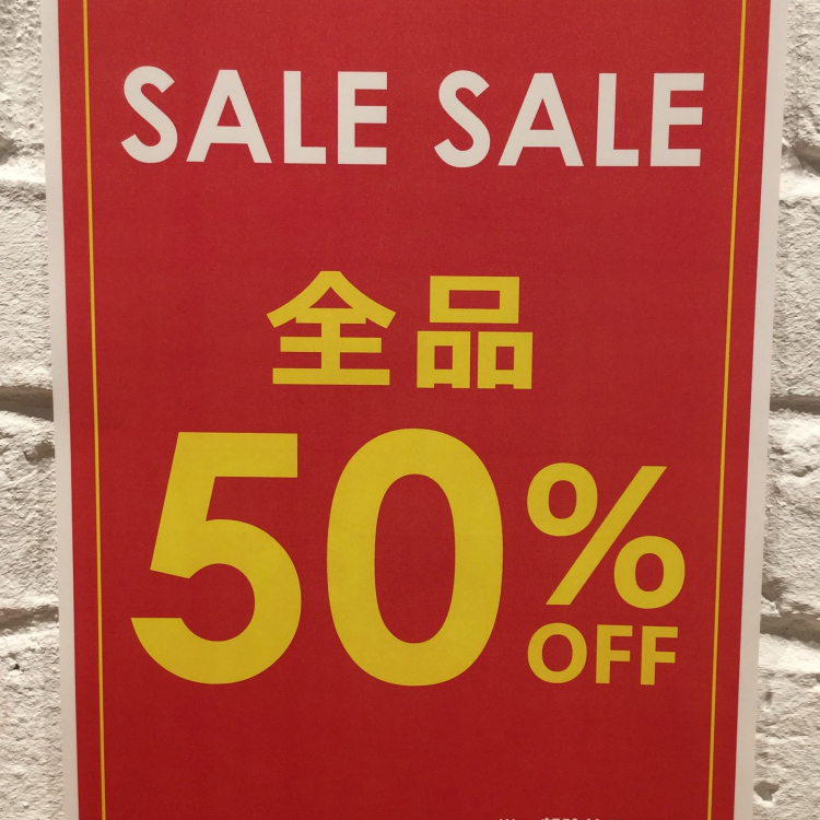 ALL50%OFF!!