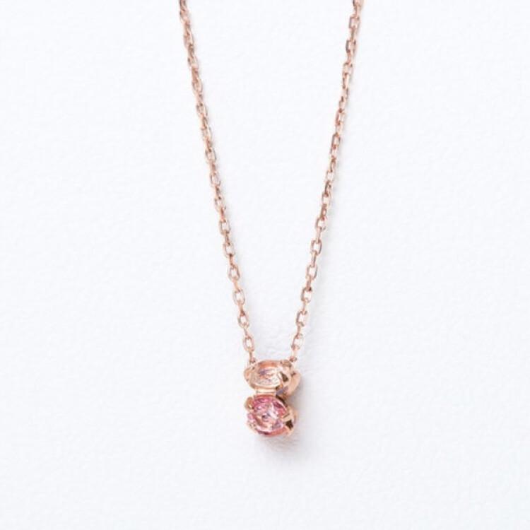 【ドラマ着用】11月誕生石 K10 ピンクゴールド トパーズ ネックレス  ¥14,300 (税込)