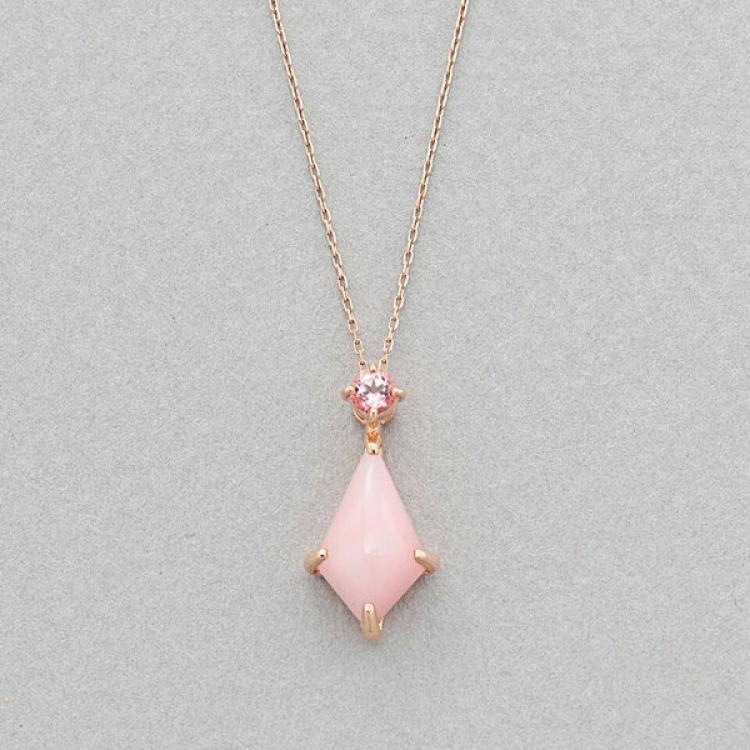 10月誕生石 K10 ピンクゴールド ピンクオパール ネックレス  ¥27,500 (税込)