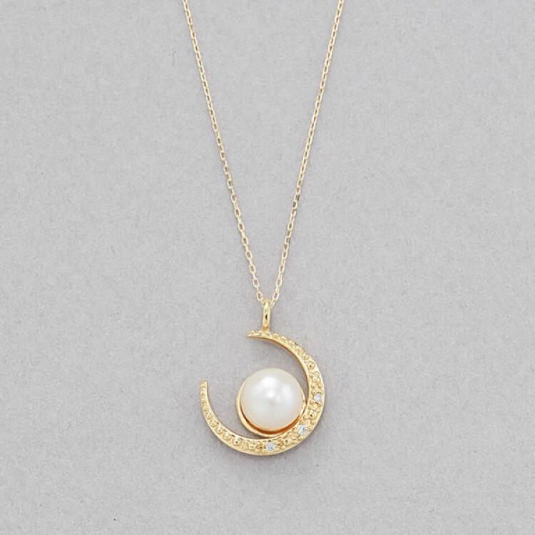 【あこや真珠】K10 イエローゴールド ネックレス